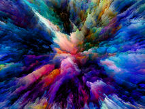 Выдвижение сюрреалистической краски Стоковые Фотографии RF