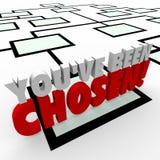 Вы выбранное продвижение организационной схемы 3d Слов Компании иллюстрация вектора