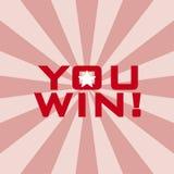 Вы выигрываете! Стоковая Фотография RF