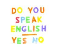 Вы говорите английскую язык. стоковое изображение rf