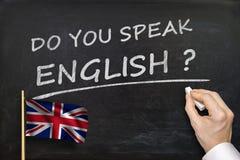 Вы говорите английский язык? Текст написанный на классн классном Стоковые Изображения
