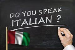 Вы говорите итальянку? Текст написанный на классн классном Стоковое фото RF