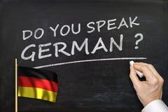 Вы говорите немца? Текст написанный на классн классном Стоковые Фотографии RF