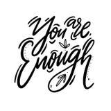 Вы достаточная литерность вектора руки вычерченная Цитата мотивировки и воодушевленности положительная иллюстрация штока