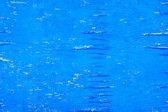 Выдержанная голубая древесина с краской шелушения Стоковое Изображение
