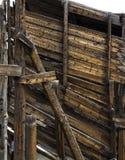 Выдержанная деревянная предпосылка Стоковое фото RF