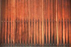 Выдержанная деревянная стена планки Стоковое фото RF
