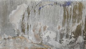 Выдержанная и огорченная стена с smudges Стоковая Фотография RF