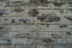 Выдержанная каменная предпосылка стены блока Стоковая Фотография RF