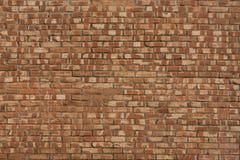 Выдержанная кирпичная стена с смешанными цветами Стоковое Изображение