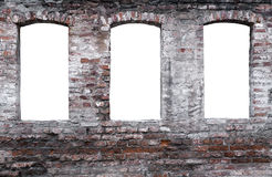 выдержанная кирпичная стена Стоковое Фото