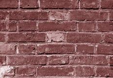 Выдержанная коричневая текстура кирпичной стены Стоковые Фотографии RF
