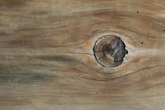 Выдержанная древесина с узлом Стоковое Изображение