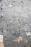 Выдержанная серая краска на металле Стоковые Фото