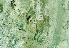 Выдержанная grungy зеленая текстура стены цемента Стоковые Изображения RF