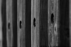 Выдержанные деревянные перила Стоковое фото RF