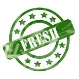 Выдержанные зеленым цветом свежие круги и звезды штемпеля бесплатная иллюстрация
