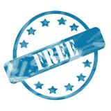 Выдержанные синью свободные круг и звезды штемпеля бесплатная иллюстрация