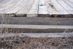 Выдержанный деревянный док Стоковые Изображения RF