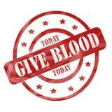 Выдержанный красный цвет дает кровь сегодня штемпелюет иллюстрация штока
