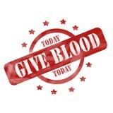 Выдержанный красный цвет дает кровь сегодня штемпелюет иллюстрация вектора