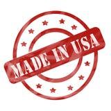 Выдержанный красный цвет сделанным в кругах и звездах штемпеля США иллюстрация штока