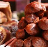 Вылеченные мясо/сосиски Стоковые Изображения RF