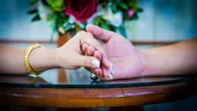 Вы и я владение one рука совместно Стоковые Фото