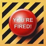 Вы кнопка ` увольнянная re Стоковая Фотография