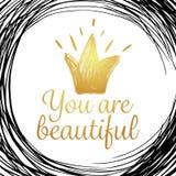 Вы красивы стоковые фото