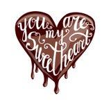 Вы моя литерность sweeetheart Иллюстрация вектора