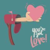 Вы получаете влюбленность! Стоковые Изображения