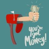 Вы получаете деньги! Стоковая Фотография