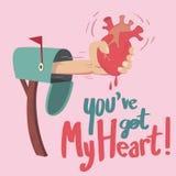 Вы получаете сердце! Стоковое Фото