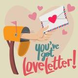 Вы получаете любовное письмо! Стоковая Фотография