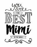 Вы самое лучшее Mimi в мире иллюстрация вектора