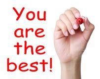 Вы самое лучшее! Стоковая Фотография