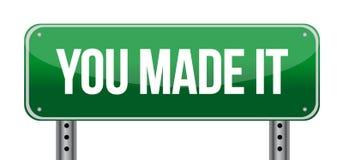 Вы сделали им зеленый дорожный знак иллюстрация вектора