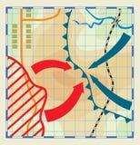Выдуманная и стилизованная карта бой Стоковая Фотография RF