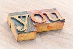 Вы формулируете конспект в деревянном типе Стоковое фото RF