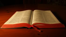 вьетнамец библии открытый Стоковое Фото