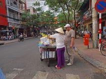вьетнамец продавеца плодоовощ Стоковые Фотографии RF