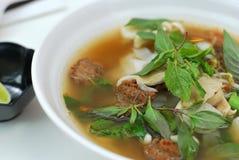 вьетнамец типа супа лапши вегетарианский Стоковая Фотография