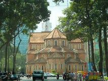 Вьетнам - собор Сайгон Нотр-Дам Стоковая Фотография RF