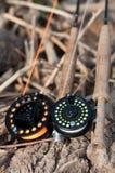 Вьюрки рыболовства мухы стоковое фото