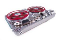 Вьюрок, который нужно намотать рекордер ws 2 ленты звукозаписи Стоковая Фотография RF