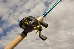 вьюрок рыболовства бросания приманки Стоковая Фотография RF