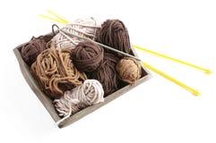 Вязание крючком или knittingwool Стоковые Изображения