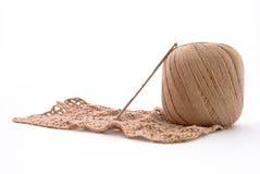 вязание крючком клубока Стоковое фото RF