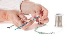 Вязание крючком провода с шариками Стоковое Изображение RF